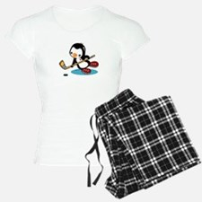 Ice Hockey Penguin Pajamas