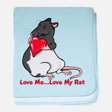 Love My Rat baby blanket