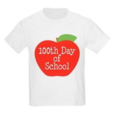 100th Day Of School Red Apple T-Shirt