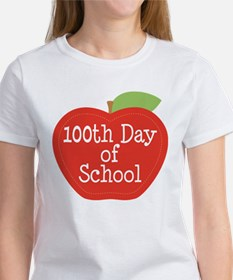 100th Day Of School Red Apple Tee