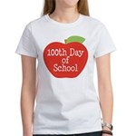 100th Day Of School Red Apple Women's T-Shirt