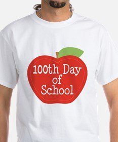 100th Day Of School Red Apple Shirt