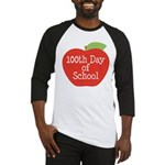 100th Day Of School Red Apple Baseball Jersey