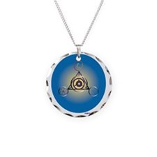 Barbury Castle Crop Circle Necklace Circle Charm