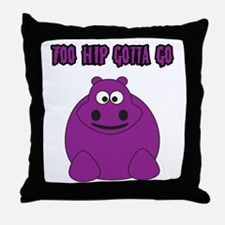 Too Hippo Throw Pillow