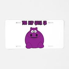 Too Hippo Aluminum License Plate