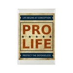 Pro Life Rectangle Magnet (100 pack)