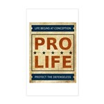 Pro Life Sticker (Rectangle)