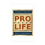Pro Life Sticker (Rectangle 10 pk)