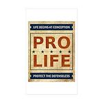 Pro Life Sticker (Rectangle 50 pk)