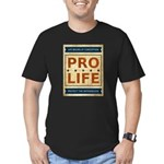 Pro Life Men's Fitted T-Shirt (dark)