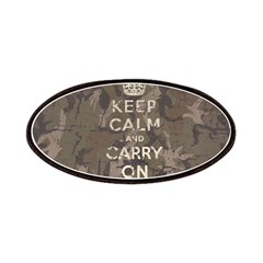 Keep Calm and Carry On camo v Patches