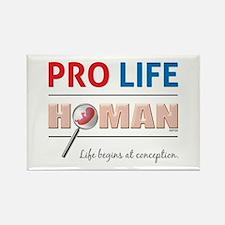 Pro Life Human Rectangle Magnet