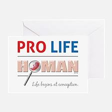Pro Life Human Greeting Card