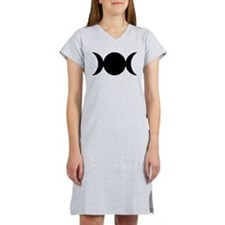 Tripple Moon Goddess Women's Nightshirt