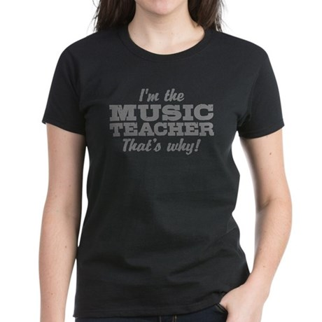 Funny Music Teacher Women's Dark T-Shirt