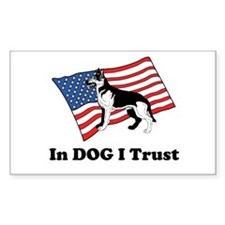 """In DOG I Trust"" Decal"