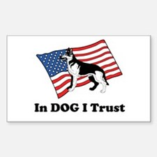 """""""In DOG I Trust"""" Decal"""