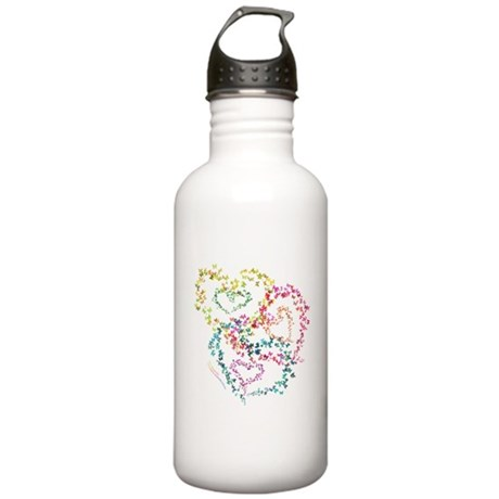 Hearts All Aflutter! - Stainless Water Bottle 1.0L