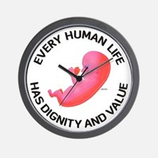 Every Human Life Wall Clock