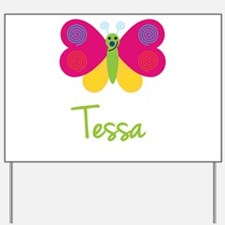 Tessa The Butterfly Yard Sign