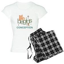 Life Begins At Conception Pajamas