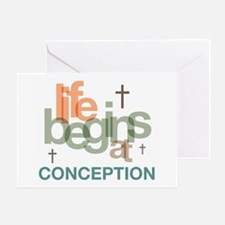 Life Begins At Conception Greeting Card