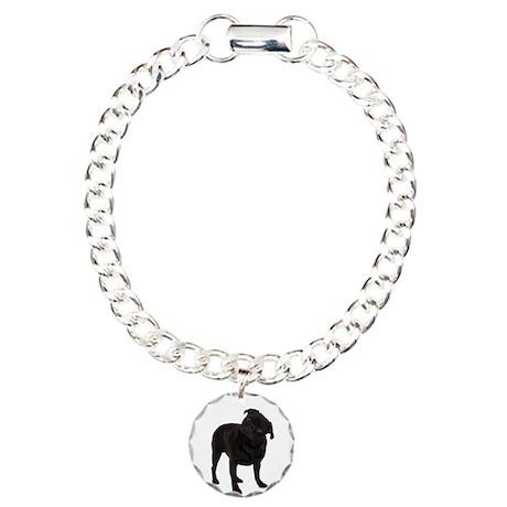 Pugs1 Charm Bracelet, One Charm