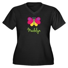 Madelyn The Butterfly Women's Plus Size V-Neck Dar