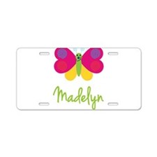 Madelyn The Butterfly Aluminum License Plate