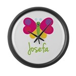 Josefa The Butterfly Large Wall Clock