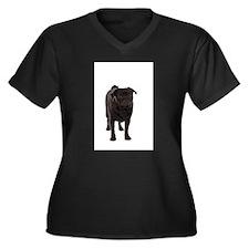 Pug 5 Women's Plus Size V-Neck Dark T-Shirt