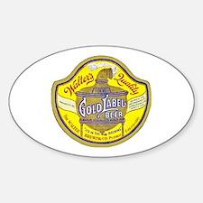 Colorado Beer Label 5 Sticker (Oval)