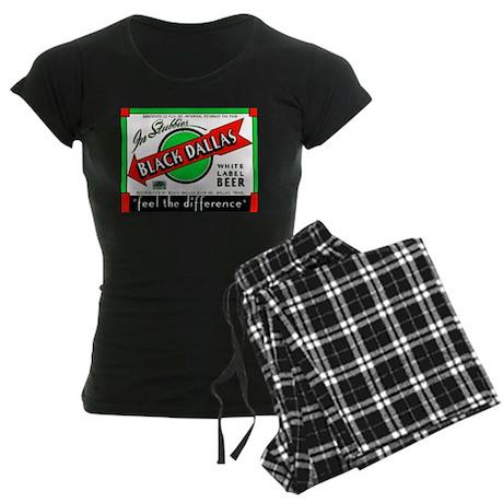 Texas Beer Label 2 Women's Dark Pajamas
