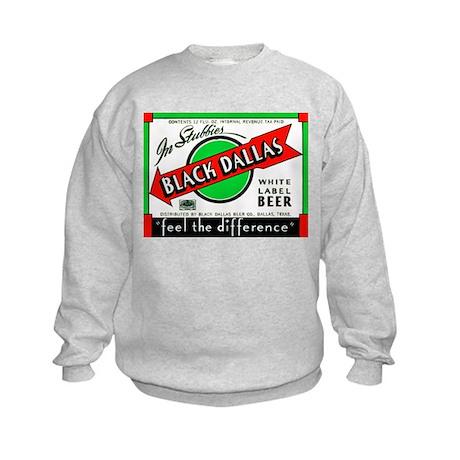 Texas Beer Label 2 Kids Sweatshirt