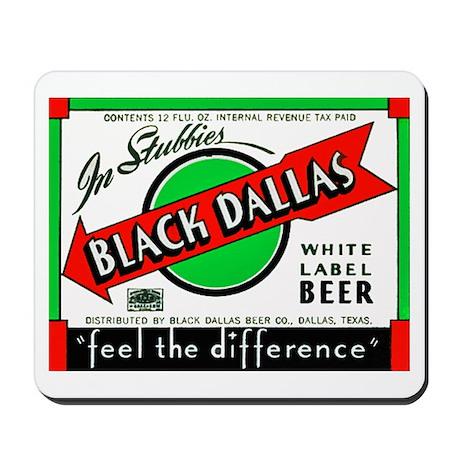 Texas Beer Label 2 Mousepad