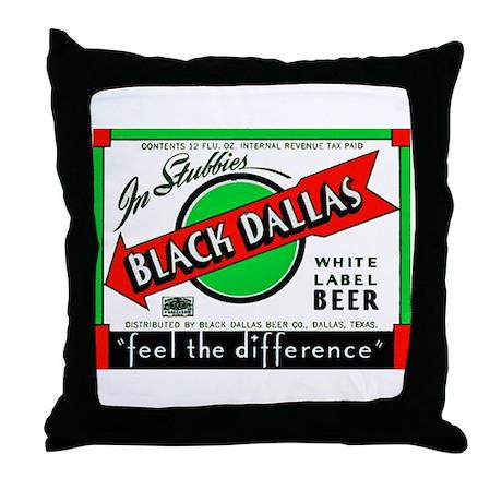 Texas Beer Label 2 Throw Pillow