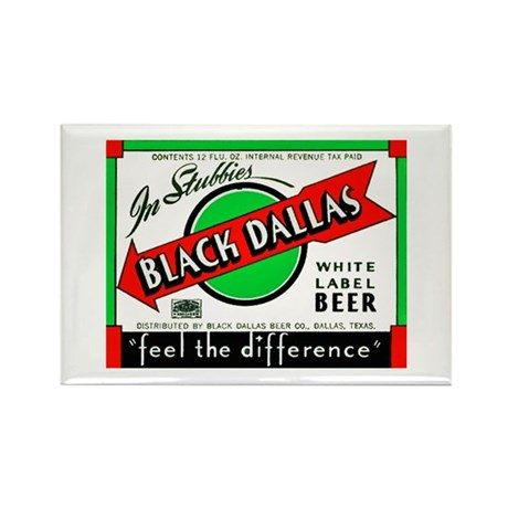 Texas Beer Label 2 Rectangle Magnet (100 pack)