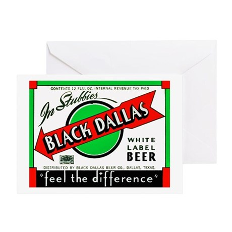 Texas Beer Label 2 Greeting Card