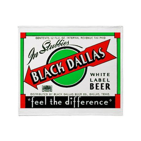 Texas Beer Label 2 Throw Blanket
