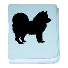 Chow Chow Silhouette baby blanket