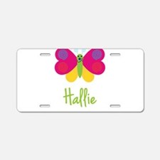 Hallie The Butterfly Aluminum License Plate