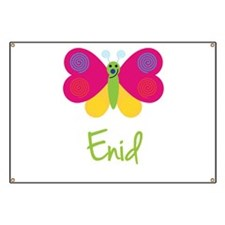 Enid The Butterfly Banner