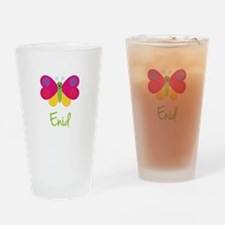 Enid The Butterfly Drinking Glass