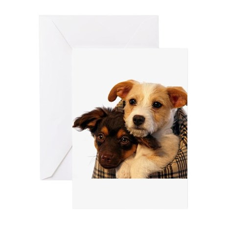Puppies Greeting Cards (Pk of 20)