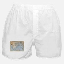 Vintage Map of North America (1747) Boxer Shorts