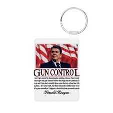Gun Control Aluminum Photo Keychain