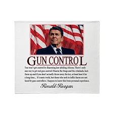 Gun Control Throw Blanket