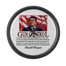 Gun Control Large Wall Clock