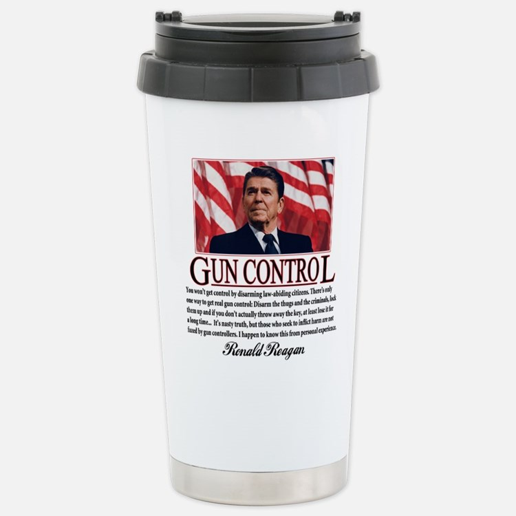 Gun Control Stainless Steel Travel Mug